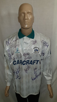 1997/98 Rochdale Long Sleeved Away Shirt (Match Worn and Signed)