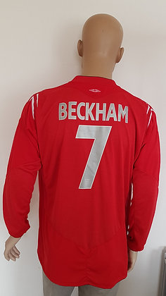 2004-2005 England L/S Away Shirt BECKHAM 7