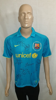 2007/08 FC Barcelona Away Shirt (Signed)