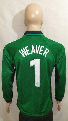 """1999/00 Manchester City Goalkeeper Shirt WEAVER 1: Size 34/36"""" 86/91cms"""