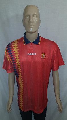 1994-1996 Spain Home Shirt: Size 46/48