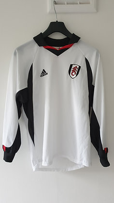 2001/02-2002/03 Fulham Long Sleeved Home Shirt