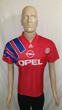 1991/92-1992/93 FC Bayern München Home Shirt: Size 36/38 (Signed)