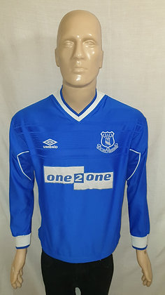 1999/00 Everton Long Sleeved Home Shirt