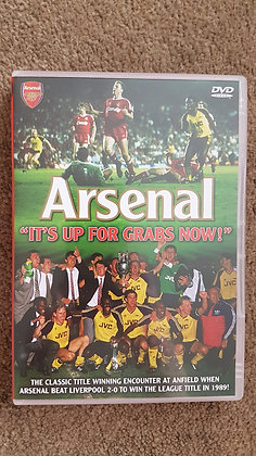 """Arsenal """"It's Up For Grabs Now!"""" DVD - Anfield '89"""