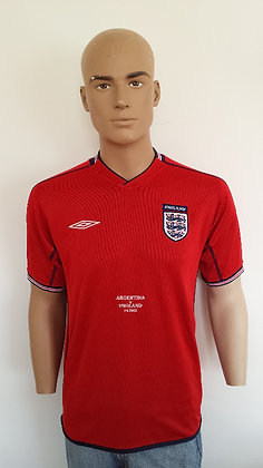 Argentina v England Shirt 2002 World Cup Shirt