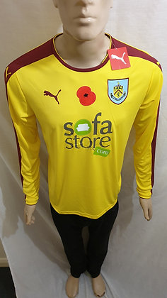 2015/16 Burnley Long Sleeved Away Shirt (Brand New with Tag and Poppy)