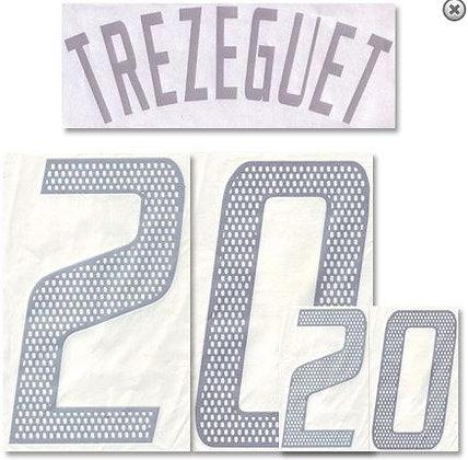 2002/03 France Home Shirt TREZEGUET 20