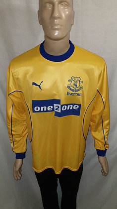 2000/01 Everton Long Sleeved Away Shirt