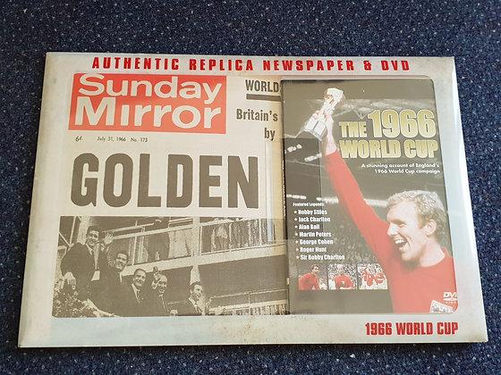 1966 England World Cup Winners Paper & DVD: BNIP