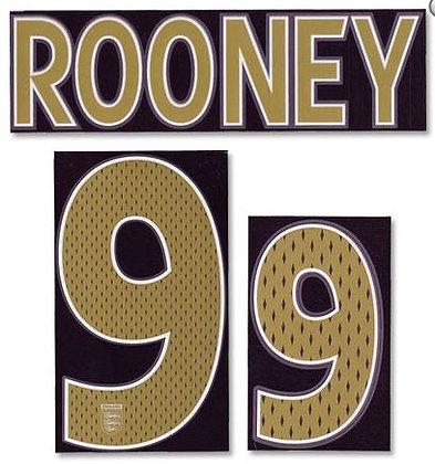 2006-2007 England Away Shirt ROONEY 9 N&N