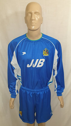 2002/03 Wigan Athletic Long Sleeved Home Shirt and Shorts