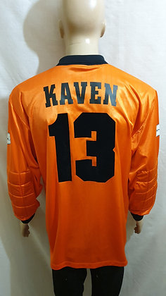 1998/99 Motherwell Goalkeeper Shirt KAVEN 13 (Match Worn or Player Issue?)