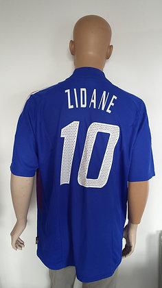 2002-2003 France Home Shirt ZIDANE 10
