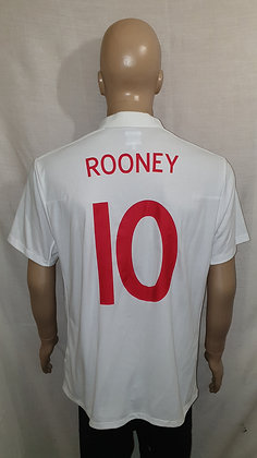 2009-2010 England Home Shirt ROONEY 10: Size 46