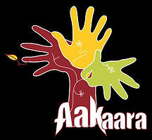 The Aakaara logo: a tree made up of three hands