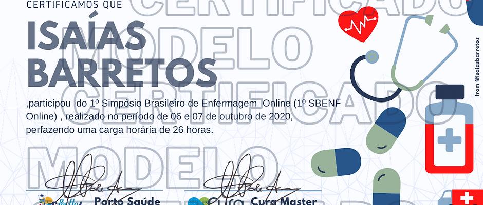 Certificado de participação com 26 horas