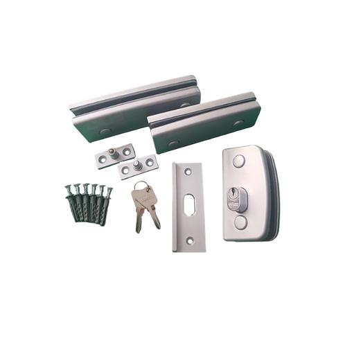 Kit 01 porta simples de giro para vidro temperado