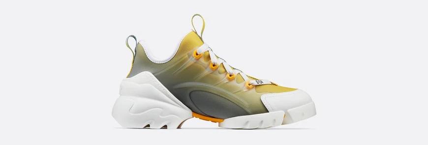 Yellow DC  neoprene ombre sneaker