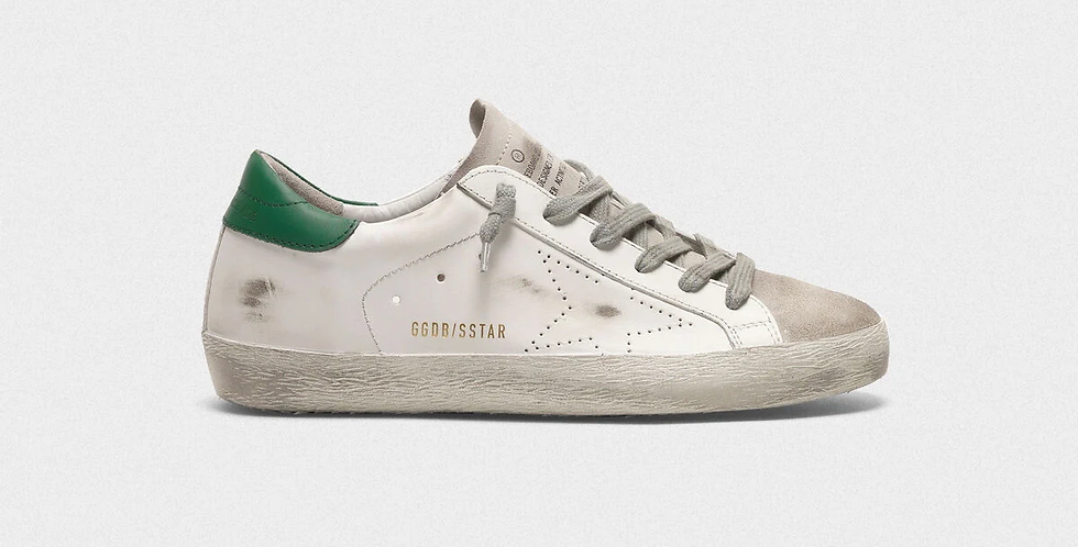 Green superstar sneakers
