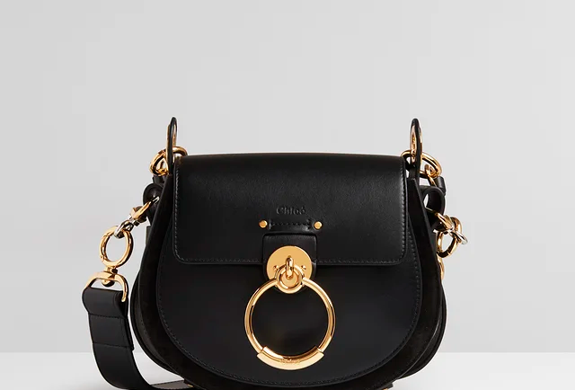 Black Tess small purse in shiny & suede leather