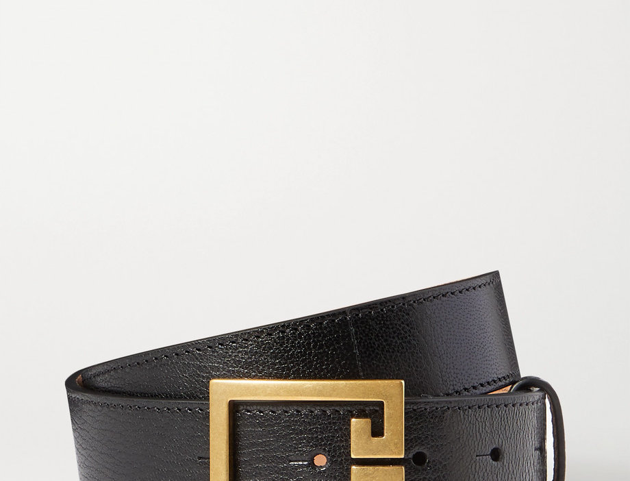 GV Textured-leather belt