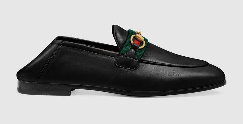 Black loafer with Web