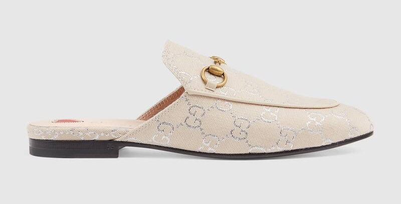 White lame GP slipper