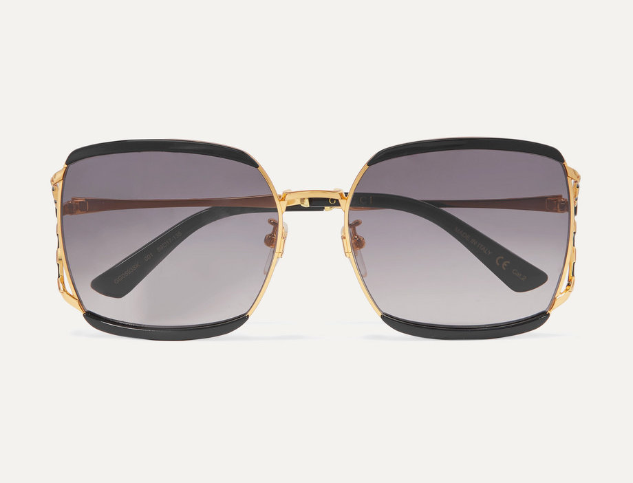 Fork square-frame sunglasses