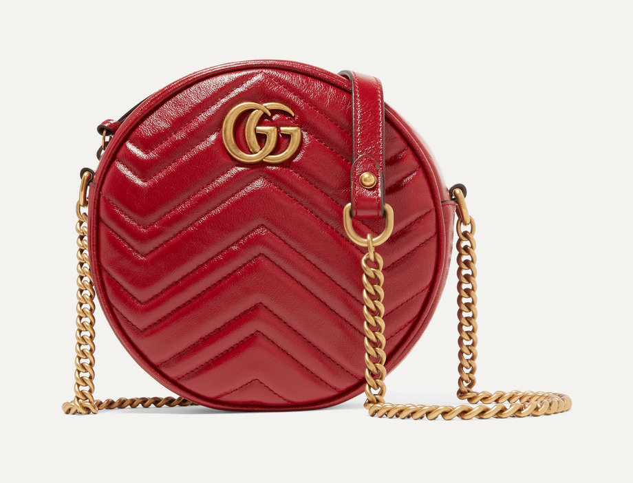 GM Circle quilted leather shoulder bag