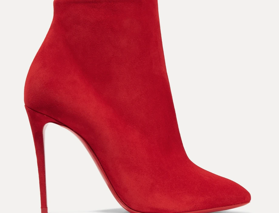 Red CLE 100 suede ankle boots