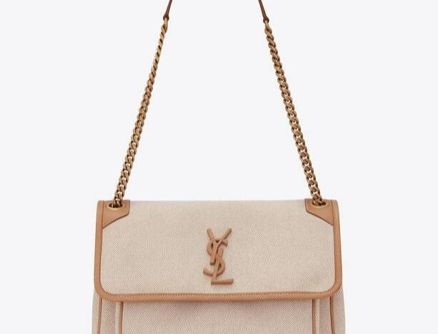 Beige NM medium shoulder bag