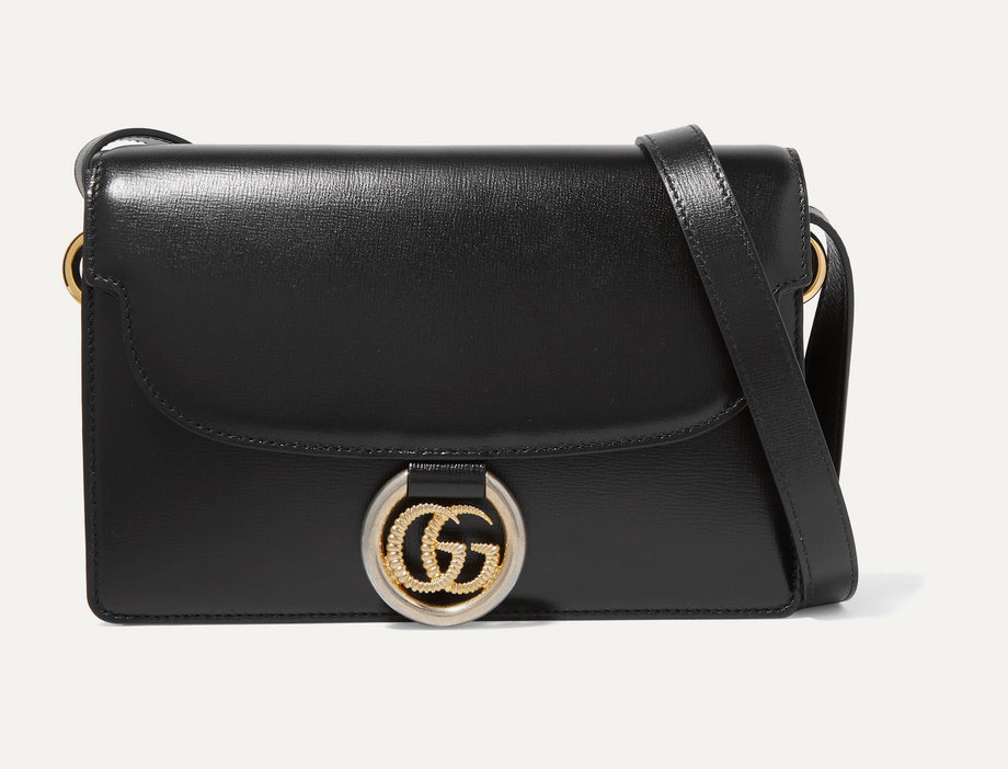 G small leather shoulder bag