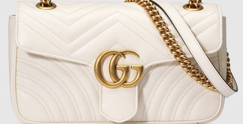 White GM small shoulder bag
