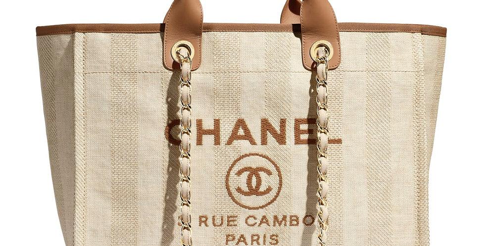 CC Beige shopping bag