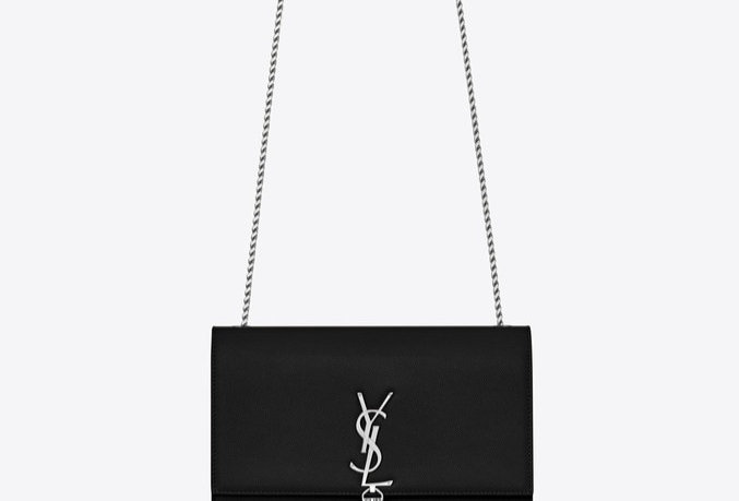 Black K medium in silver metal bag