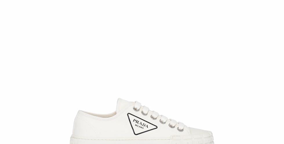 White PM cotton canvas sneakers