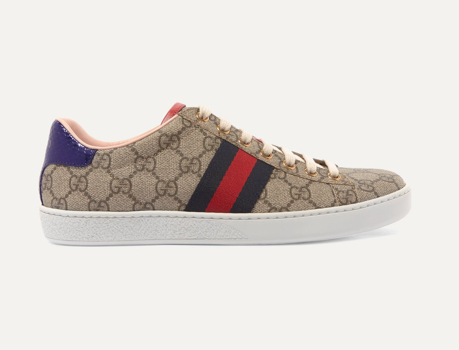 GG Supreme coated-canvas sneakers