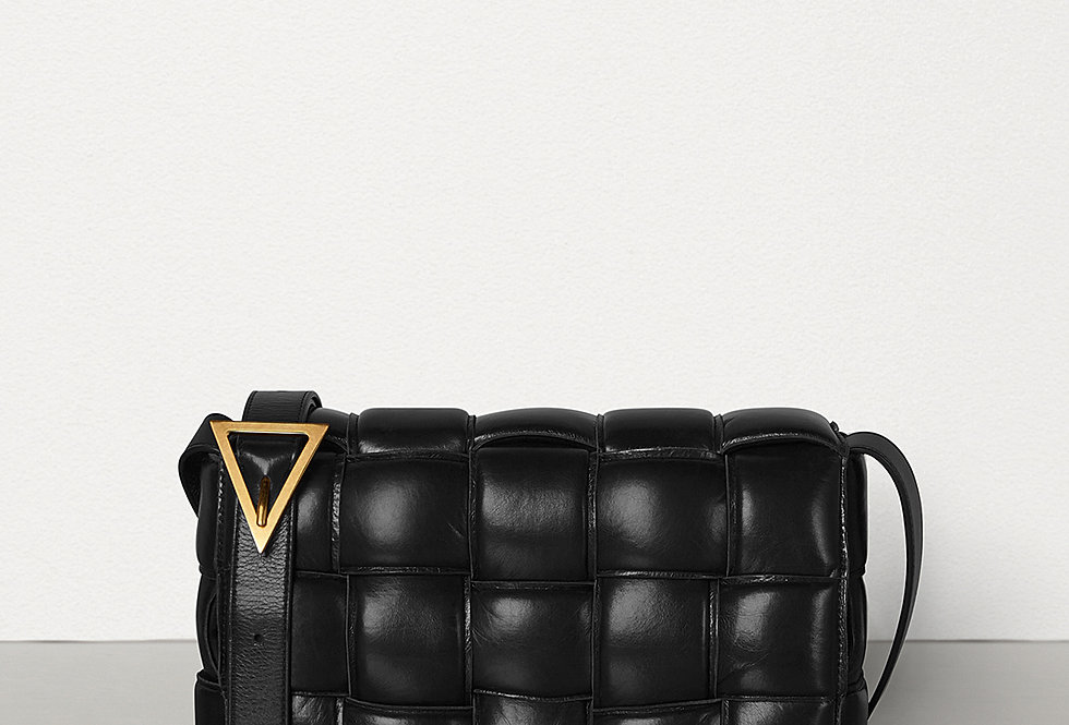 Black BC padded shoulder bag