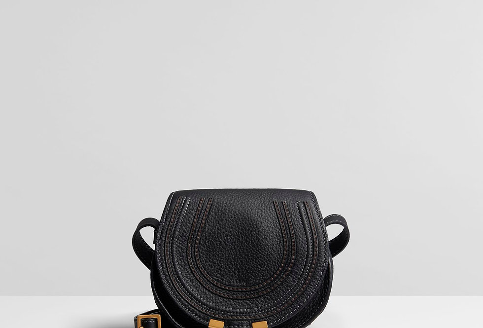 CM mini textured-leather shoulder bag
