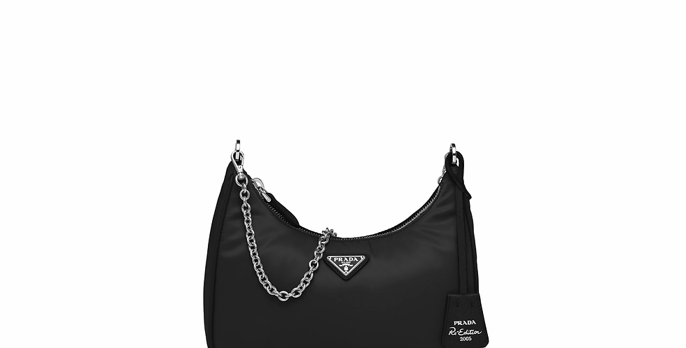 Black PRE nylon shoulder bag