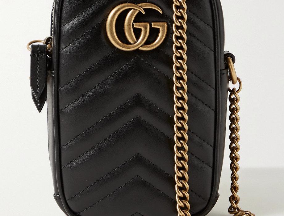 GM quilted leather shoulder bag