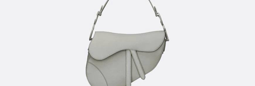 Gray stone DS matte calfskin bag