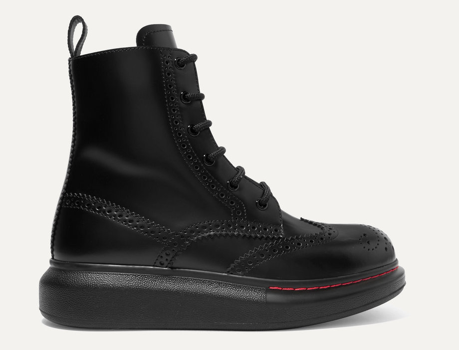 Exaggerated-Sole Ankle Boots
