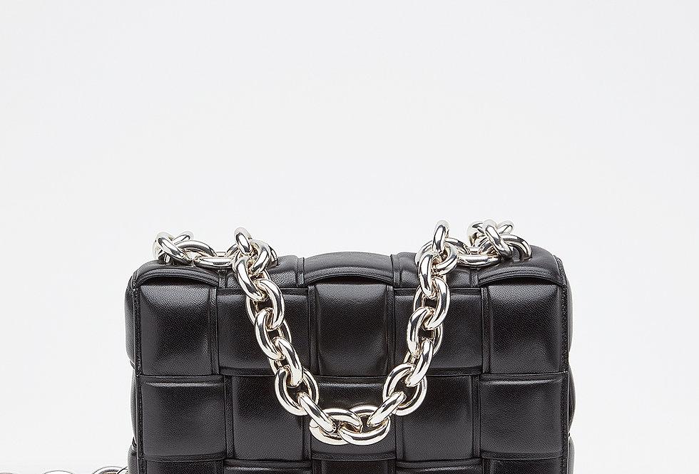 Black chain cross-body bag