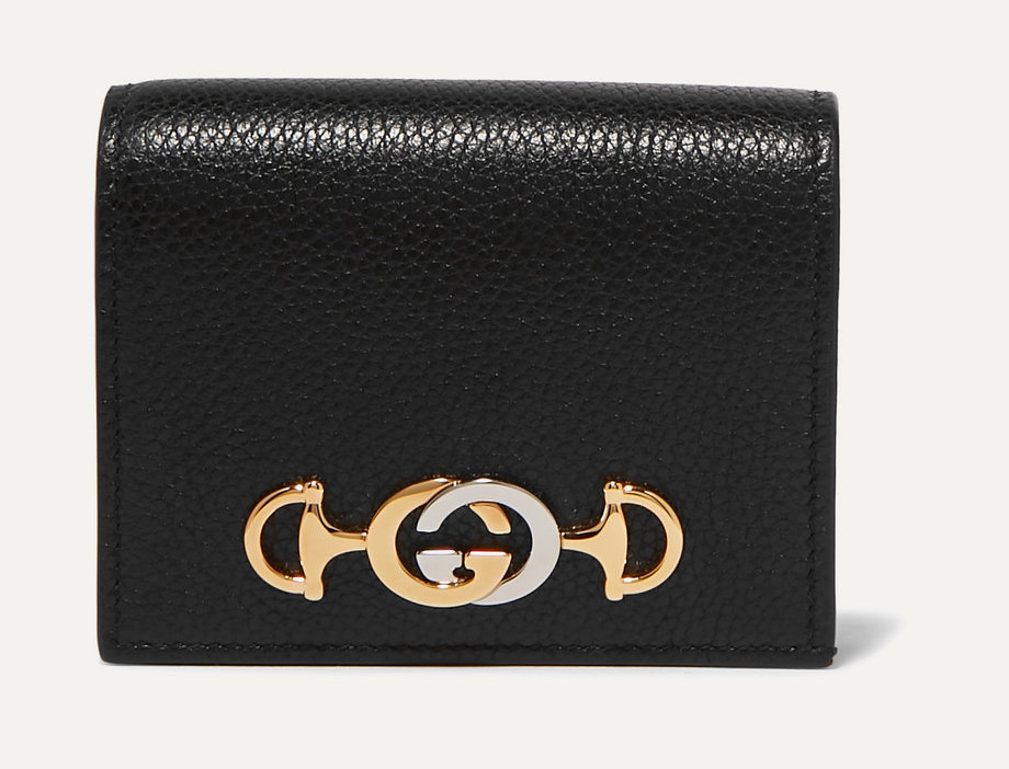 GZ small embellished textured-leather wallet