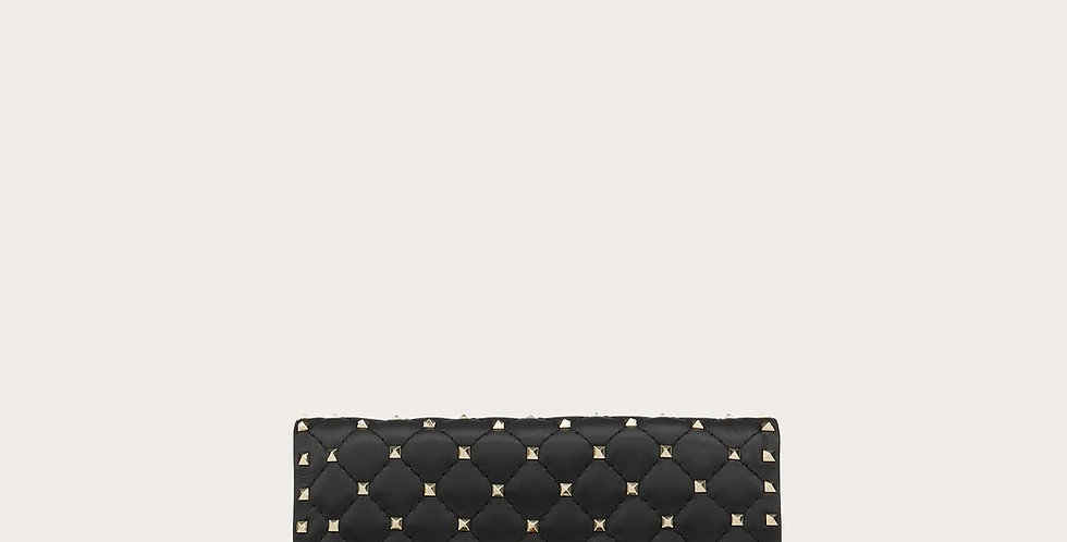 Black RS leather crossbody clutch bag