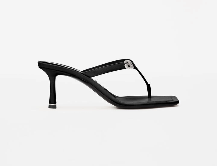 Black RI thong sandal