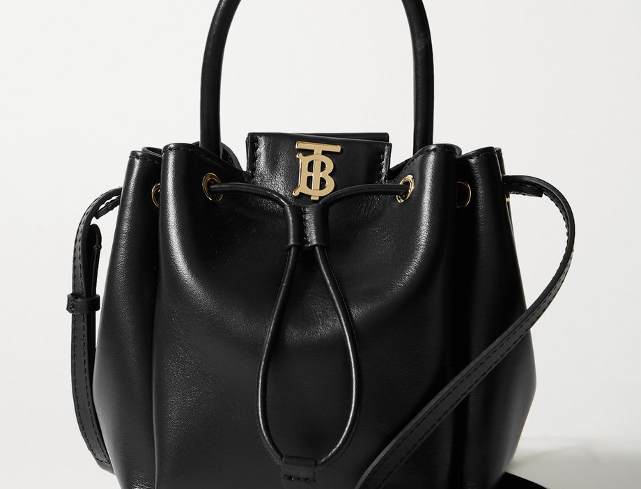 BU Leather bucket bag