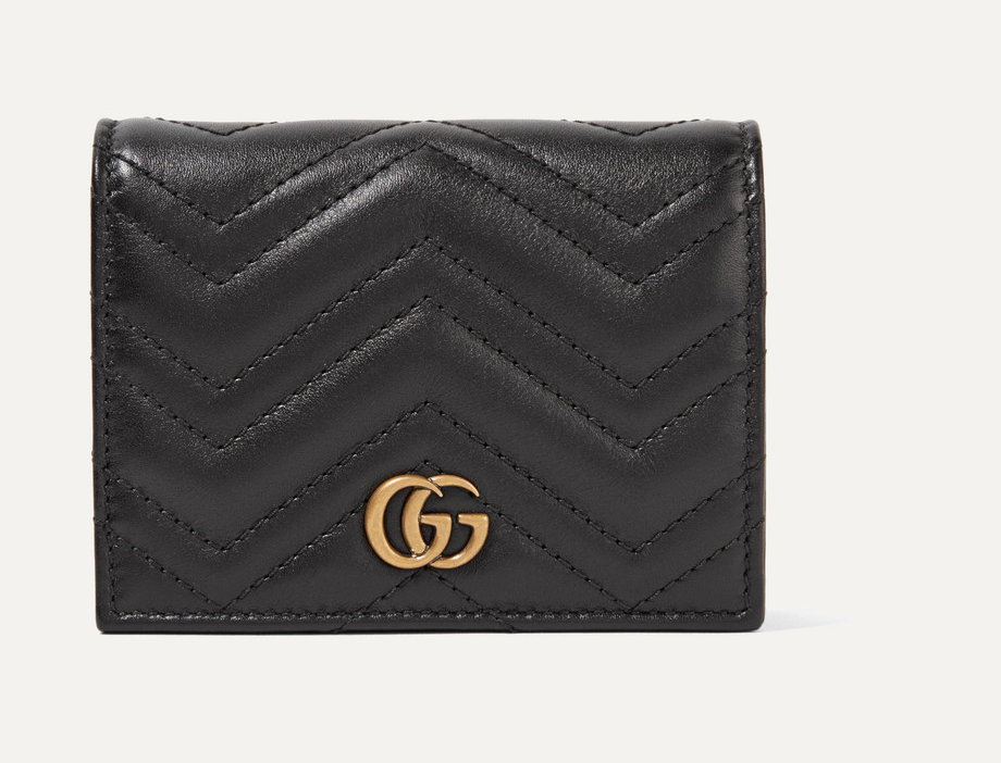GM small quilted leather wallet